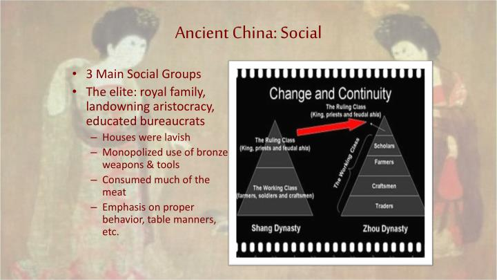 Ancient China: Social