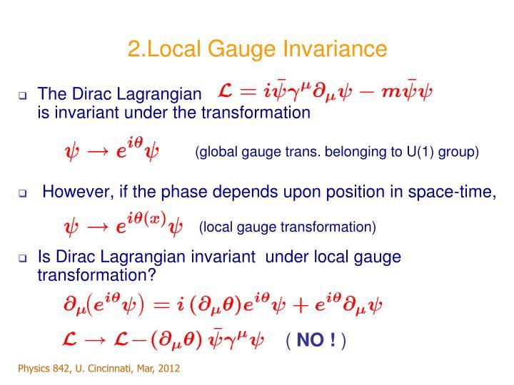 2.Local Gauge Invariance