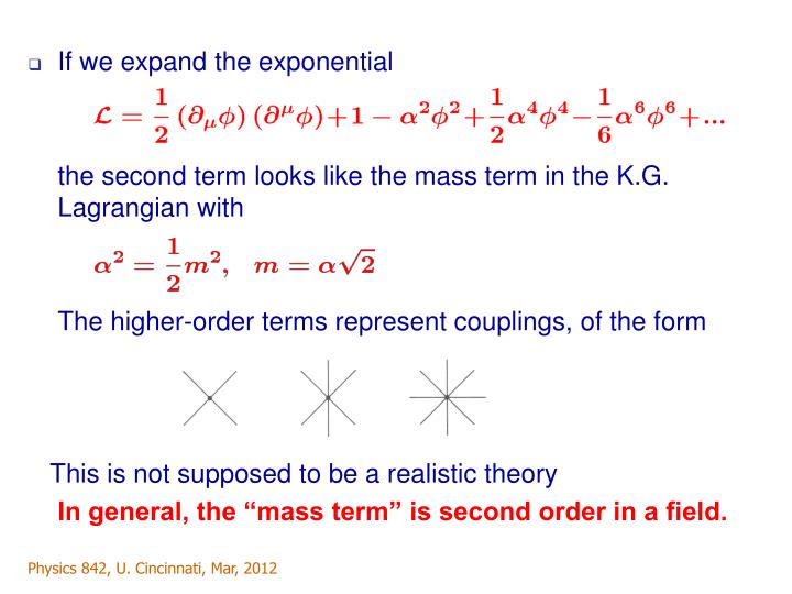 If we expand the exponential