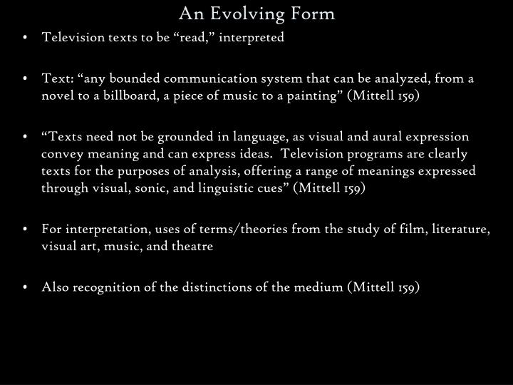 An Evolving Form