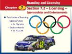 section 7 2 licensing sponsorships and endorsements