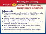 section 7 2 licensing sponsorships and endorsements8