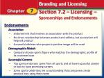 section 7 2 licensing sponsorships and endorsements9