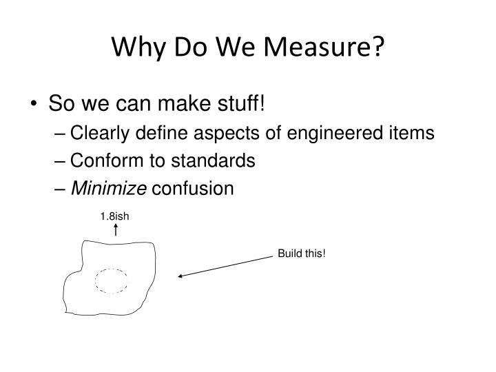 Why do we measure