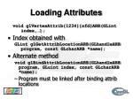 loading attributes