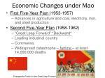economic changes under mao