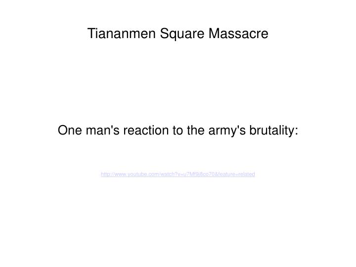 One man's reaction to the army's brutality: