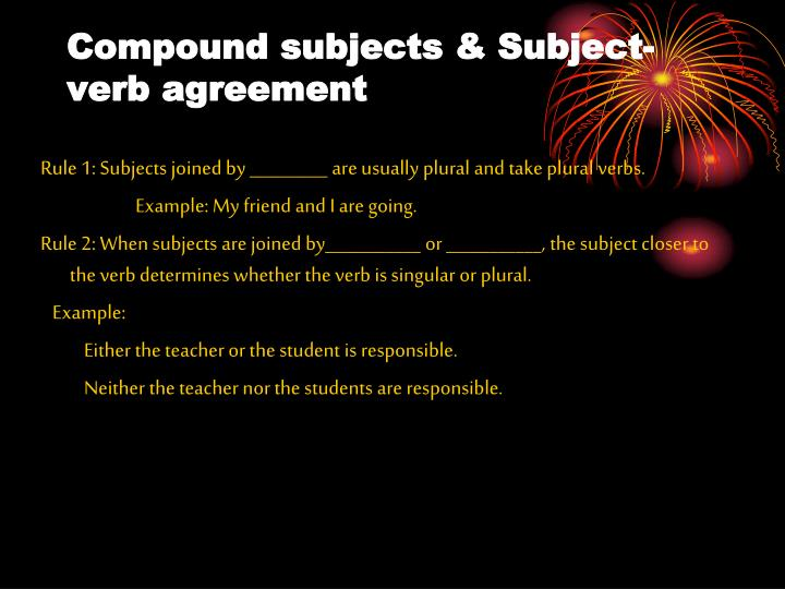 Ppt Subject Verb Agreement Powerpoint Presentation Id6109856