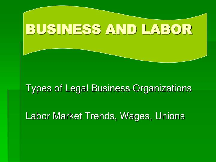business and labor n.