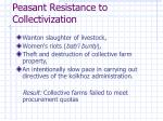 peasant resistance to collectivization