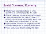 soviet command economy