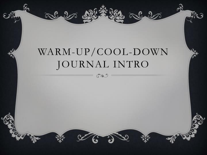 warm up cool down journal intro n.