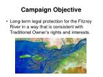 campaign objective