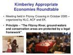 kimberley appropriate economies roundtable