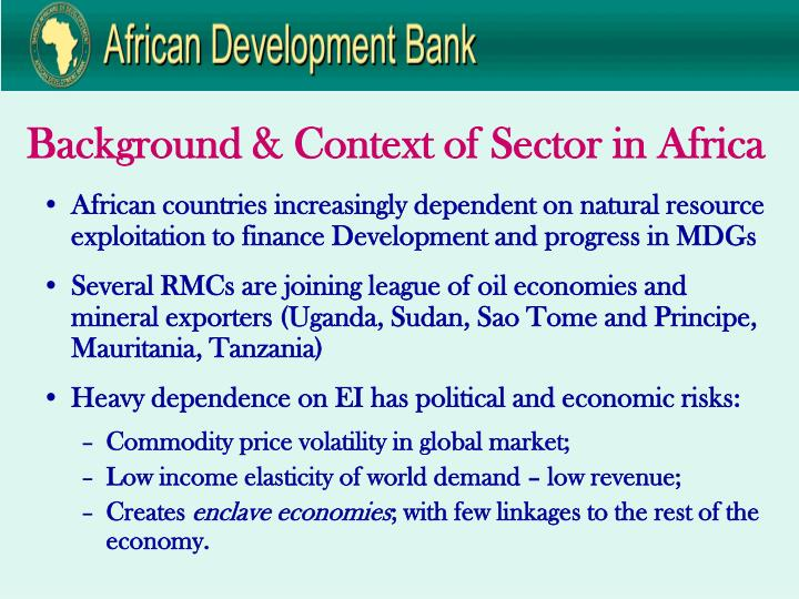 Background & Context of Sector in Africa