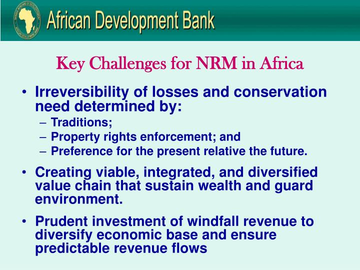 Key Challenges for NRM in Africa