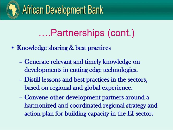 ….Partnerships (cont.)