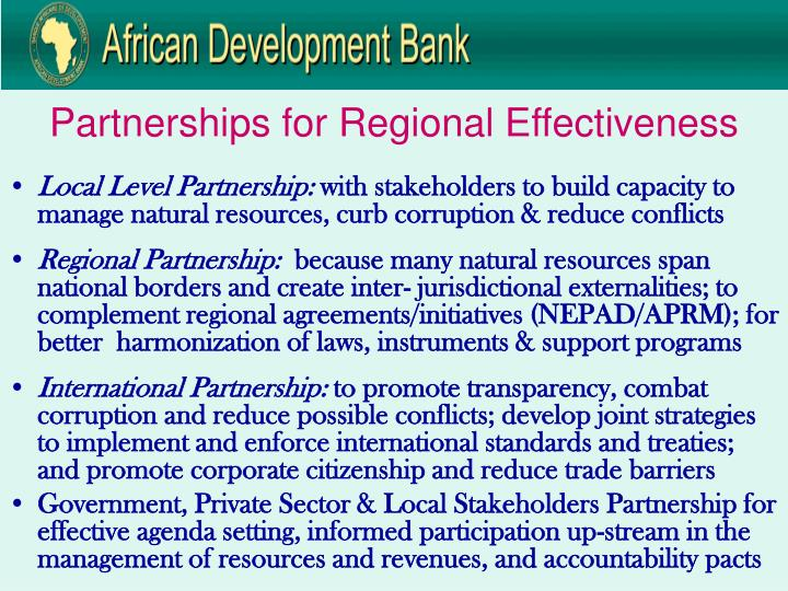 Partnerships for Regional Effectiveness