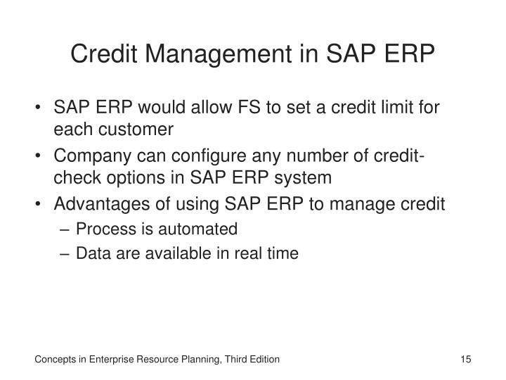 Credit Management in SAP ERP