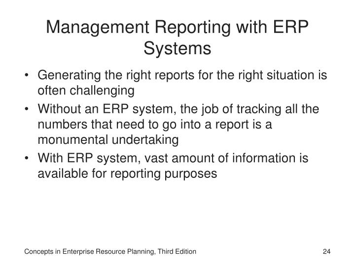 Management Reporting with ERP Systems