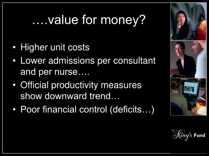 ….value for money?