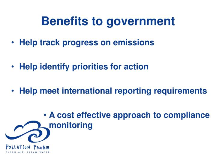 Benefits to government