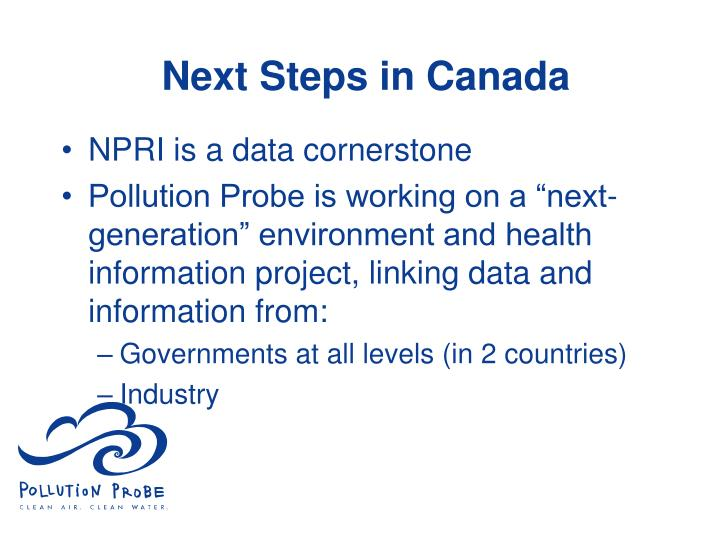 Next Steps in Canada