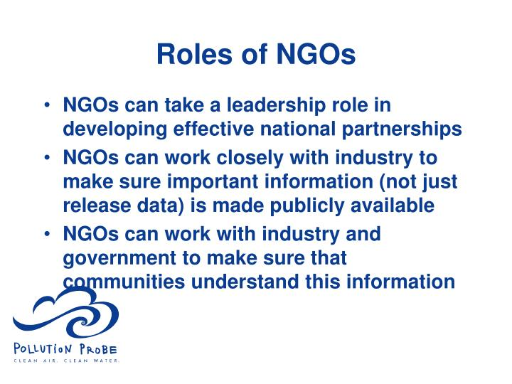 Roles of NGOs