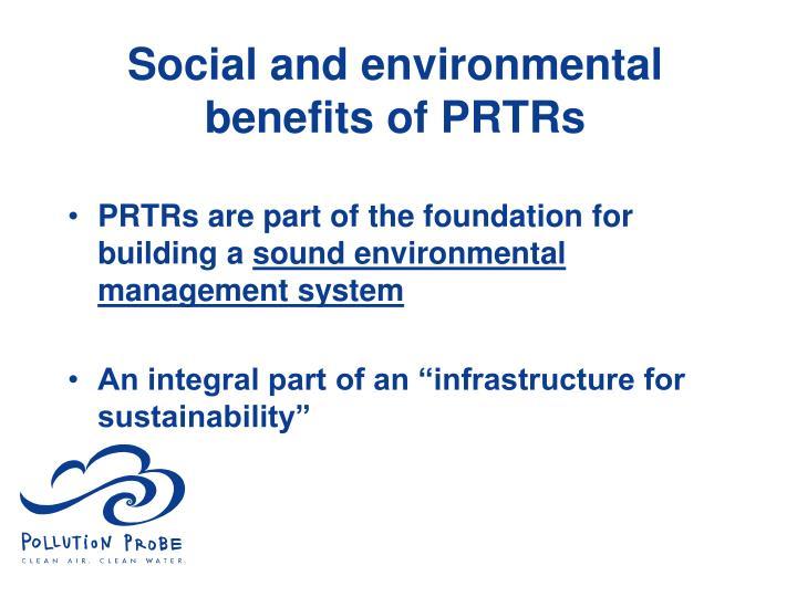 Social and environmental