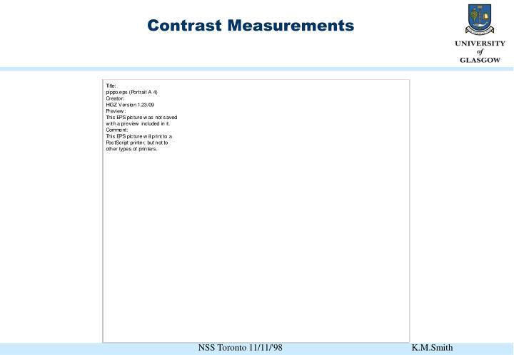 Contrast Measurements