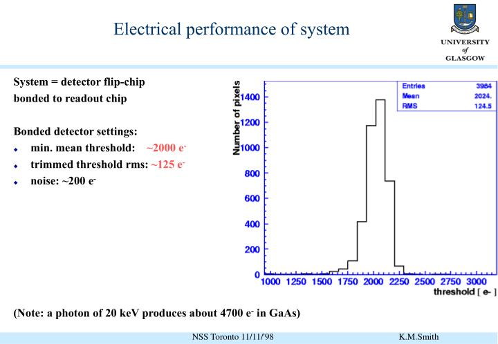 Electrical performance of system