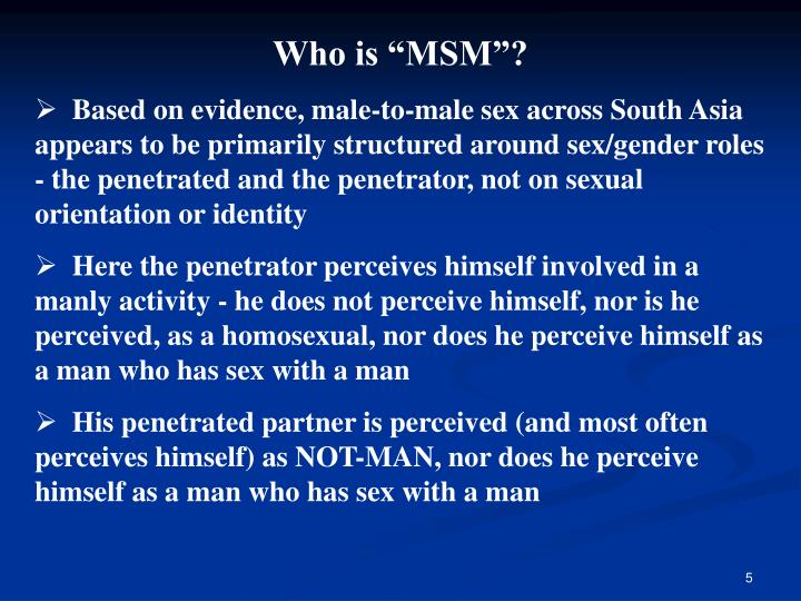 """Who is """"MSM""""?"""