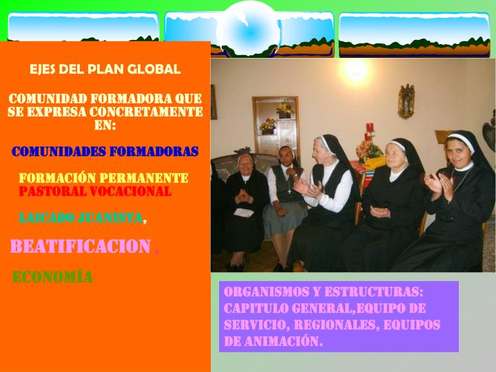 EJES DEL PLAN GLOBAL