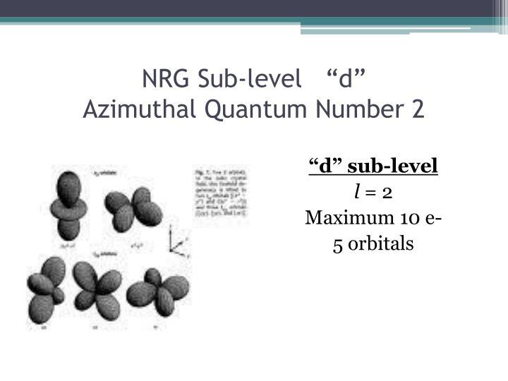 NRG Sub-level