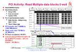 pci activity read multiple data blocks 0 wait