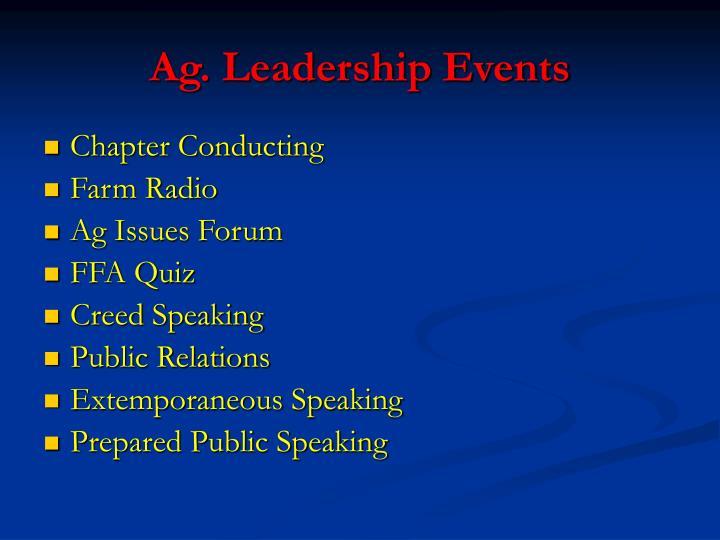 Ag. Leadership Events