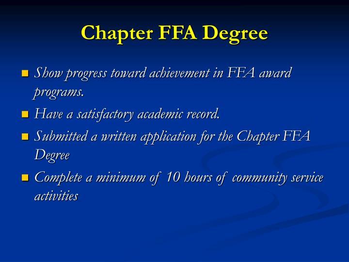 Chapter FFA Degree