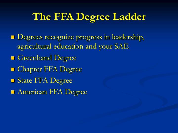 The FFA Degree Ladder
