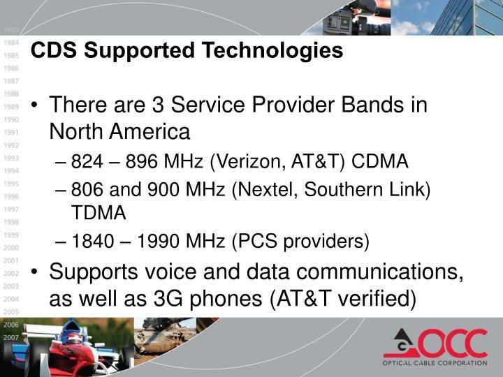 There are 3 Service Provider Bands in North America