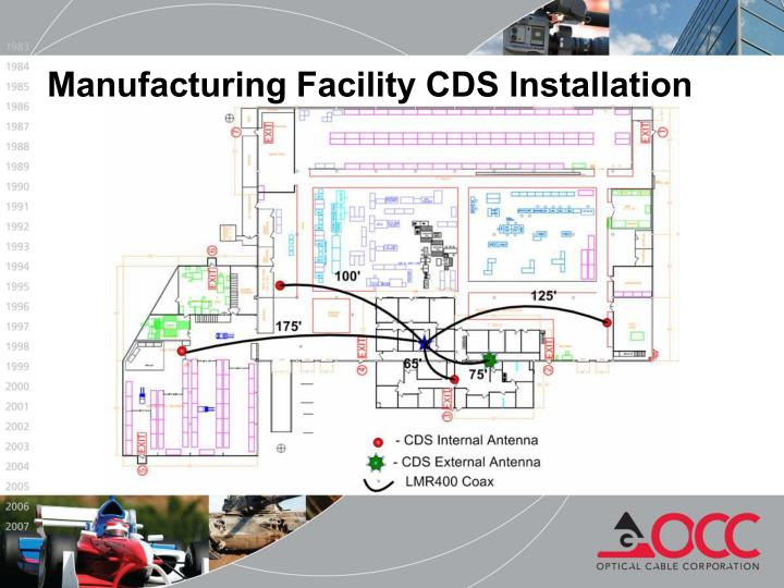 Manufacturing Facility CDS Installation