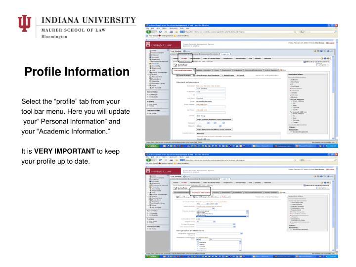Profile Information