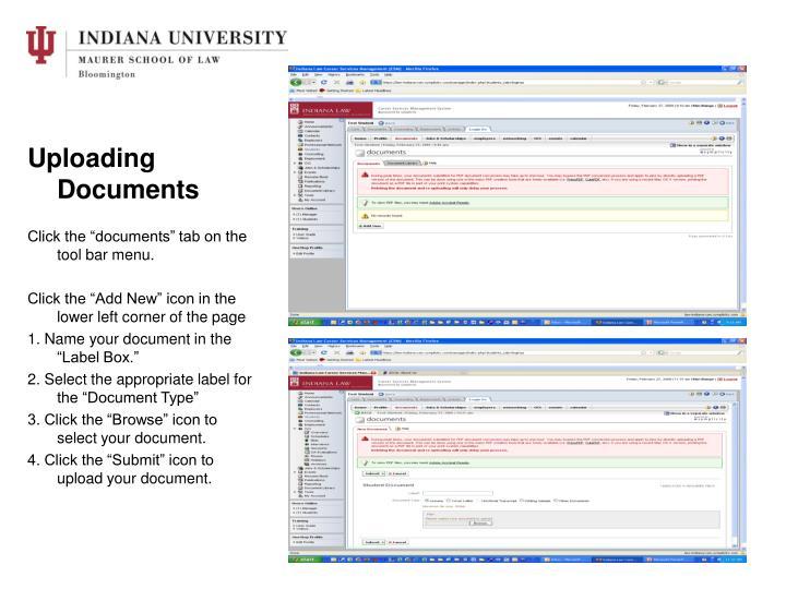 Uploading Documents