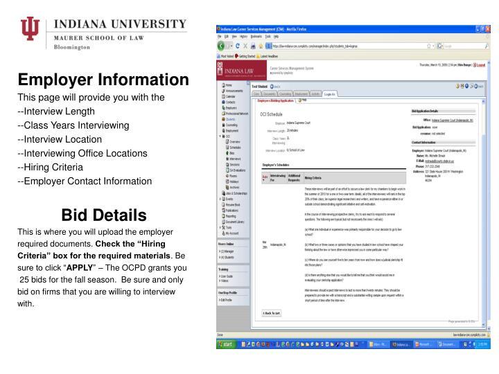 Employer Information