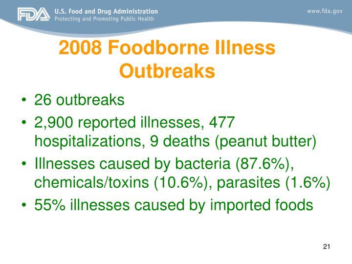 2008 Foodborne Illness Outbreaks