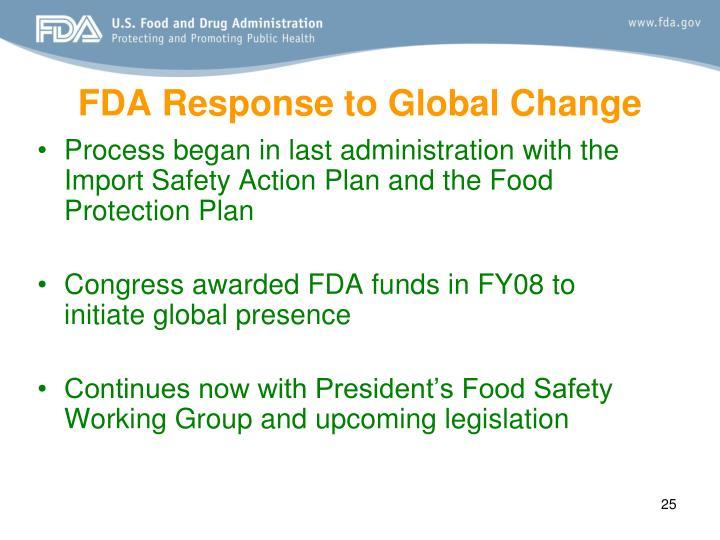 FDA Response to Global Change