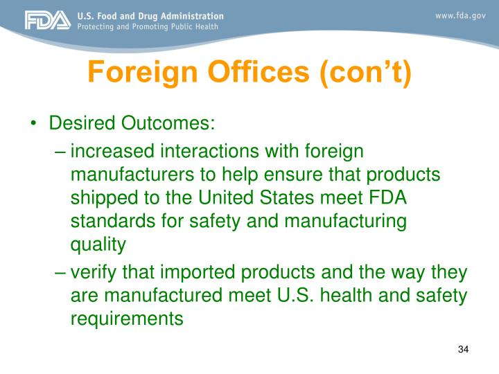 Foreign Offices (con't)
