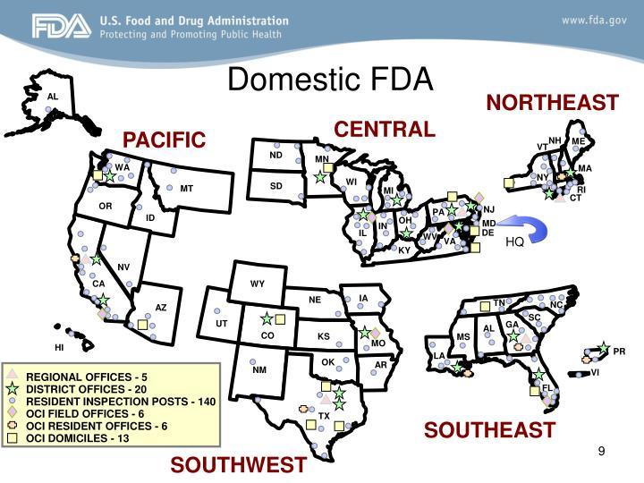 Domestic FDA