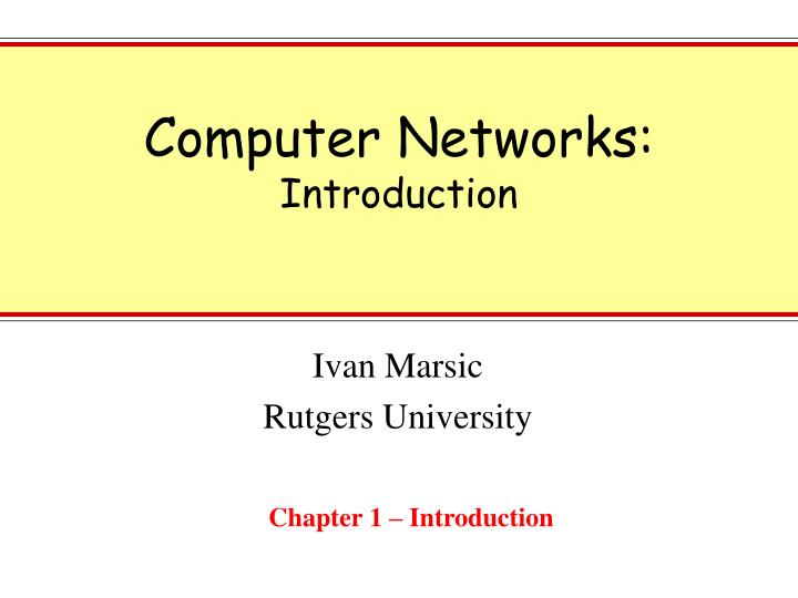 computer networks introduction n.
