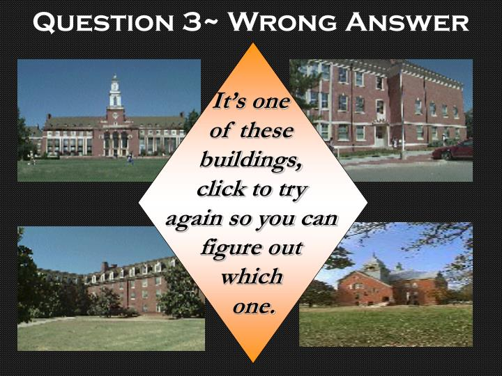 Question 3~ Wrong Answer