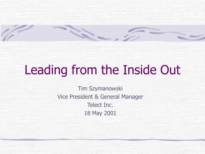 leading from the inside out n.